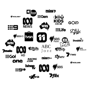 Australian TV network logos icons