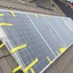 Masking up solar before painting